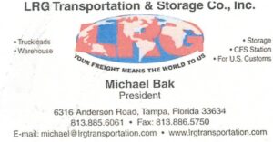 LRG Transporation, Michael Bak, Polskie Usługi transportowe, Polish, transport, trucks, Florida, Floryda