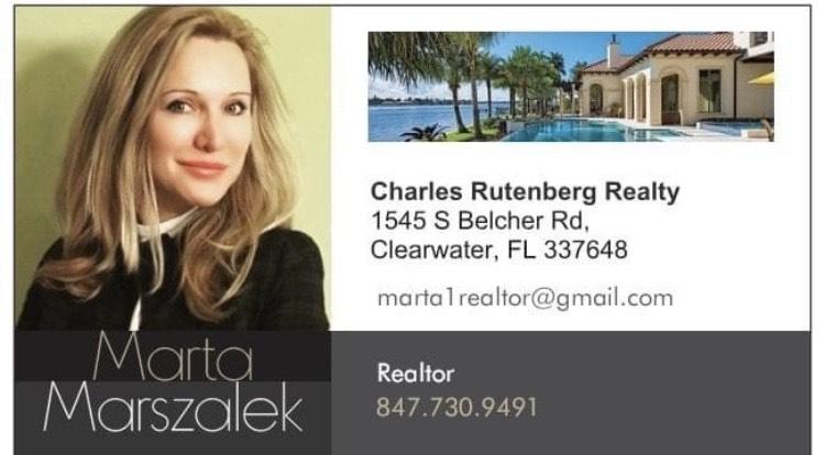 Marta Marszalek, Polish, Realtor, atCharles Rutenberg Realty Inc., Clearwater, Pinellas, Florida